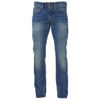 Edwin Men's Ed55 Relaxed Tapered Denim Jeans Mid Glint Used Blue