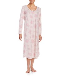 Miss Elaine Floral Nightgown Pink Floral