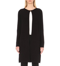 Hugo Boss Falba Longline Knitted Cardigan Black