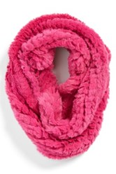 La Fiorentina Faux Fur Infinity Scarf Pink