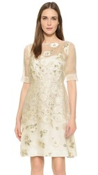 Lela Rose A Line Dress Ivory