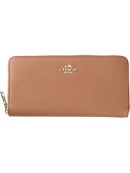 Coach Zip Around Wallet Brown