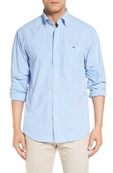 Vineyard Vines Men's 'Crowell Tucker' Regular Fit Gingham Sport Shirt Harbor Cay