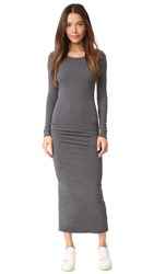 James Perse Skinny Split Dress Heather Charcoal