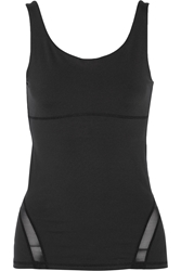 Yummie By Heather Thomson Emily Mesh Trimmed Stretch Jersey Tank