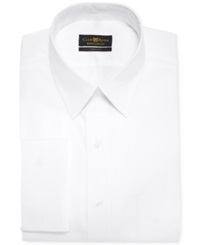 Club Room Estate White Solid French Cuff Shirt