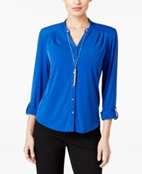 Ny Collection Petite Chain Necklace Shirt Surf
