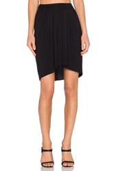 Bella Luxx High Low Pleated Skirt Black