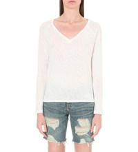 Sundry Long Sleeved Cotton Jersey Top White