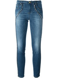 Versace Collection Studded Skinny Jeans Blue