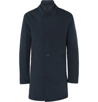 Nn.07 Blake Shell Car Coat With Detachable Gilet Blue