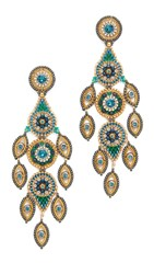 Miguel Ases Blake Earrings Blue Gold