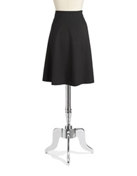 Jones New York Solid A Line Skirt Black