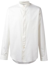 Paul Smith Ps By Band Collar Shirt Nude Neutrals