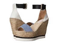 See By Chloe Sb26152 Denim Women's Wedge Shoes Blue