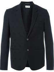 Saint Laurent Star Jacquard Blazer Black