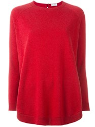 Brunello Cucinelli Loose Jumper Red