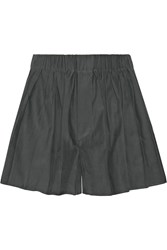 Rag And Bone Holten Pleated Twill Shorts Green