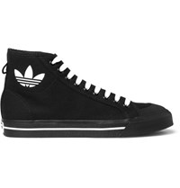 Raf Simons Adidas Originals Spirit Canvas High Top Sneakers Black