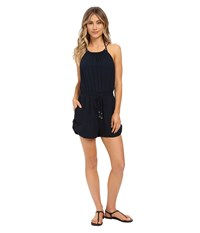 Seafolly Bandwave Everland Jumpsuit Cover Up Indigo Women's Jumpsuit And Rompers One Piece Blue