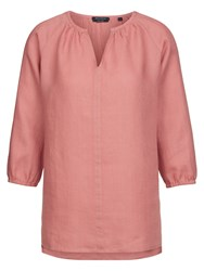 Marc O'polo Tunic Blouse In Pure Linen Red