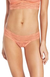 B.Tempt'd Women's By Wacoal 'Lace Kiss' Bikini Fusion Coral