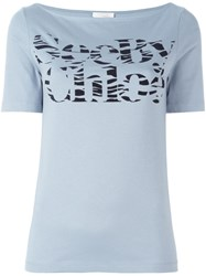 See By Chloe Logo Print T Shirt Blue