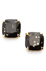 Women's Kate Spade New York Glitter Stud Earrings Black Glitter