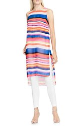 Vince Camuto Women's Abstract Strokes Long High Low Tunic