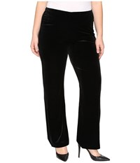 Lysse Plus Size Velvet Pants Black Women's Casual Pants
