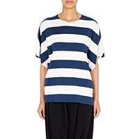 Regulation Yohji Yamamoto Striped Dolman Sleeve Top Navy White