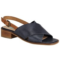 John Lewis Collection Weekend By Issoudun Cross Strap Sandals Navy