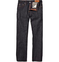 Jean Shop Rocker Raw Selvedge Denim Straight Fit Jeans Blue