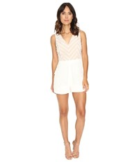 Adelyn Rae Woven Romper Lace White Women's Jumpsuit And Rompers One Piece