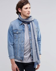 Scotch And Soda Scotch And Soda Printed Lightweight Scarf Blue
