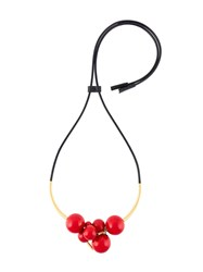 Marni Sphere Cluster Necklace Red