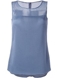 Akris Mesh Tank Top Blue