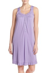 Women's Eileen West Modal Short Nightgown Solid Deep Purple