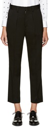 Junya Watanabe Black Satin Trim Trousers