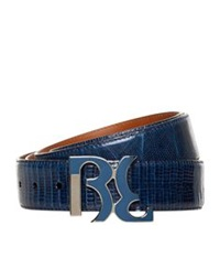 Billionaire Iguana Skin Belt Multi