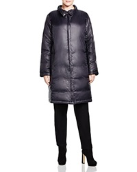 Eileen Fisher Plus Down Puffer Parka Black