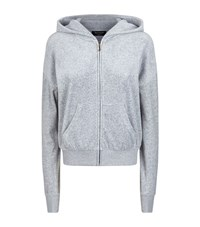 Juicy Couture Logo Crown Velour Hoodie Female Silver