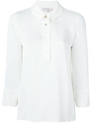 Dice Kayek Jewelled Button Shirt White