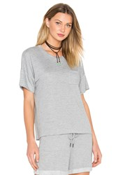 Stateside Lightweight French Terry Crew Neck Tee Gray