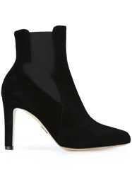 Paul Andrew High Heeled Chelsea Boots Black