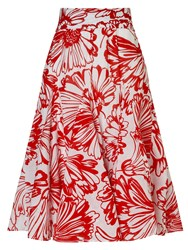 Phase Eight Penelope Floral Skirt Red