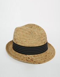 Catarzi Straw Trilby Hat Beige