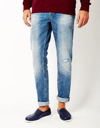 Only And Sons Weft Medium Blue Denim Jeans