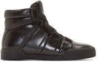 3.1 Phillip Lim Black Leather Morgan High Top Sneakers
