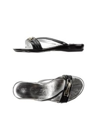 Andrea Morelli Thong Sandals Black